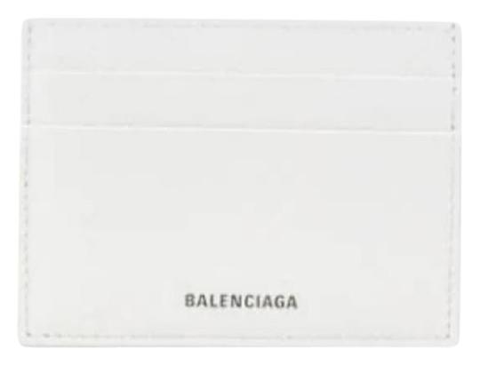 Preload https://img-static.tradesy.com/item/26530786/balenciaga-white-leather-ville-printed-logo-card-holder-wallet-0-1-540-540.jpg