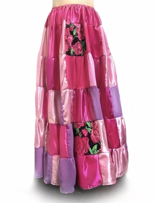 Handcrafted at Ameynra Maxi Skirt pink Image 2