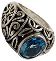 Other GORGEOUS!! Sterling Silver and Blue Stone Ring Image 0