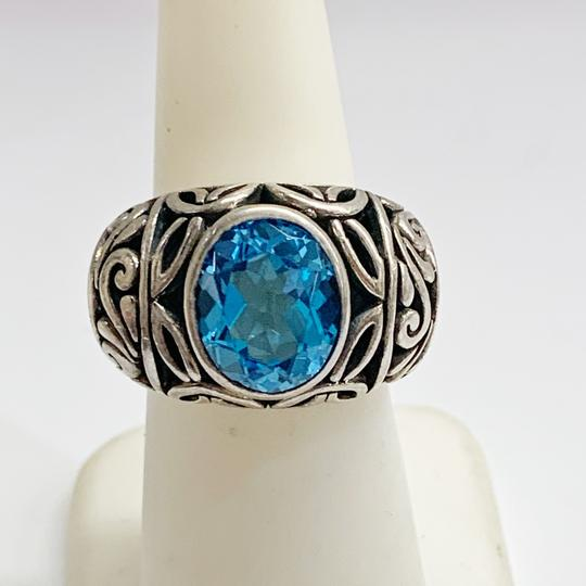 Other GORGEOUS!! Sterling Silver and Blue Stone Ring Image 2