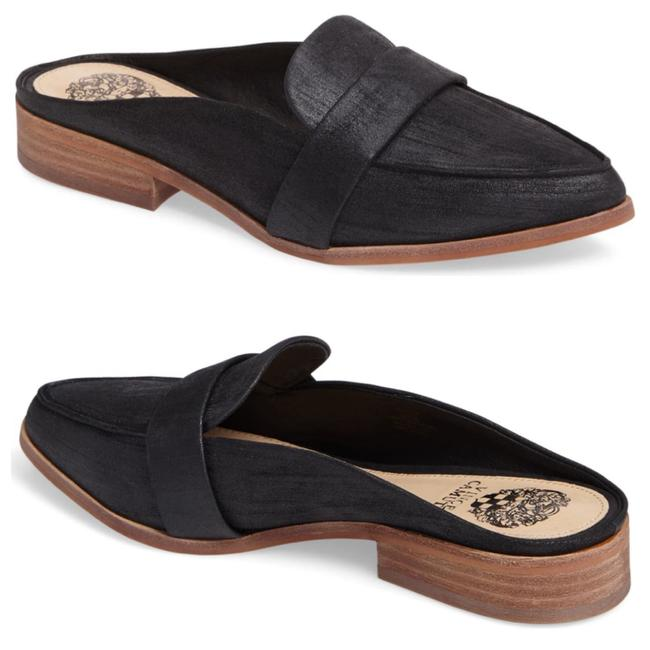 Item - Black Kirstie Leather Flats Mules/Slides Size US 6.5 Regular (M, B)