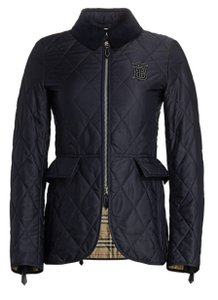Burberry Equestrian Quilted Coat Navy Jacket
