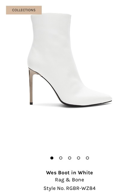 Item - White Wes Boots/Booties Size US 8 Regular (M, B)