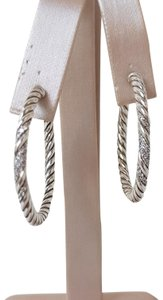 David Yurman David Yurman Willow Pave Diamond Hoop Earrings