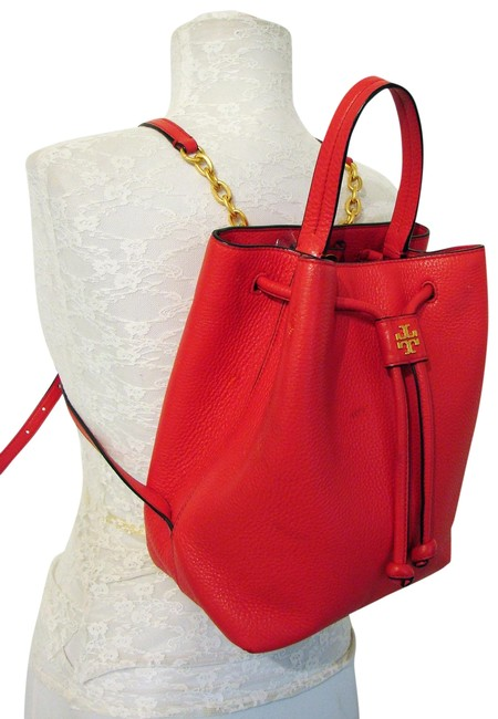 Item - Georgia Red Pebbled Leather Backpack
