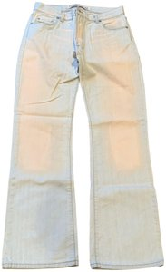 Diesel Distressed Whitewashed Straight Boot Cut Jeans-Acid