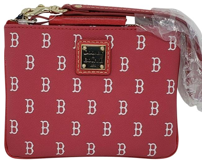 Item - Boston Sox Stadium Red Coated Canvas Wristlet