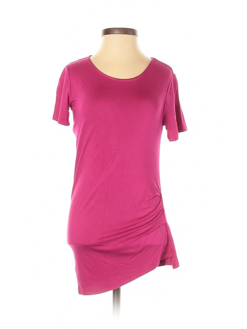 Item - Pink XS Sleeve Blouse Ruched Tee Shirt Size Petite 2 (XS)