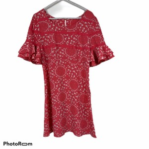 Free People short dress coral, white on Tradesy