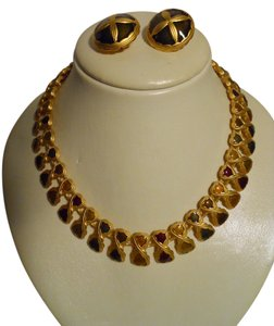Anne Klein Anne Klein necklace & clip earrings