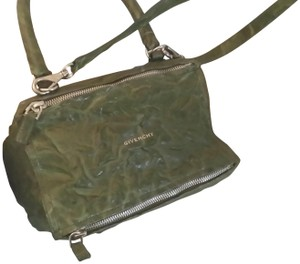 Givenchy Leather Pandora Satchel in Khaki Olive Green