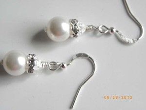 Other Bridal Earrings White Swarovski Crystal Pearls Earrings Wedding Jewelry