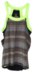 Sweaty Betty Top Black and lime green