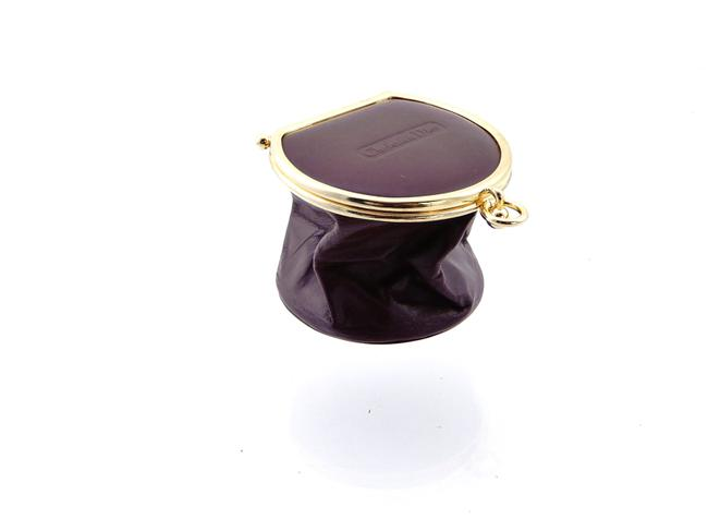 Item - Burgundy Red and Gold Collapsible Jewelry Travel Pouch Case Cosmetic Bag