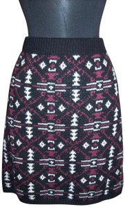 Maurices Stretch Knit Winter Warm Career Skirt Multi-Color