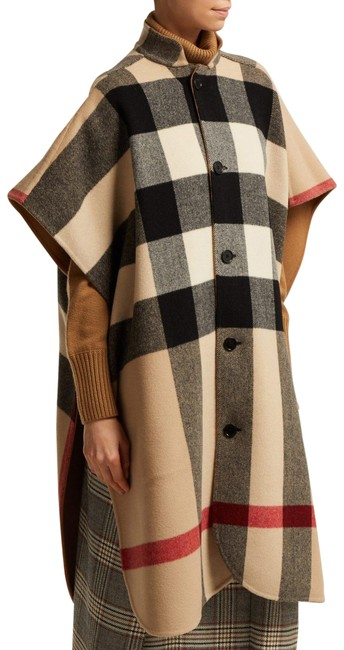Item - Camel Reversible Poncho/Cape Size OS (one size)