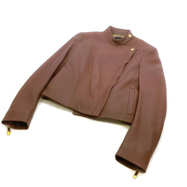 Item - Brown Brilly Leather Moto Jacket Size 0 (XS)