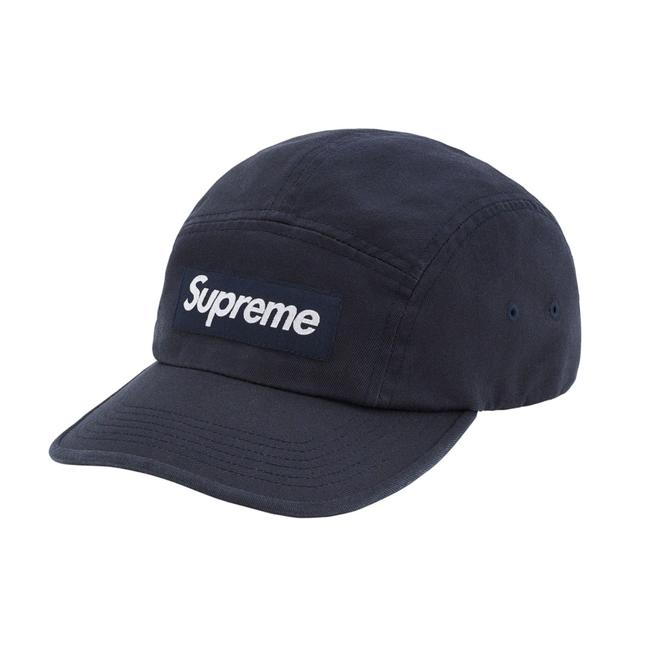 Item - Navy Washed Chino Twill Camp Cap Hat