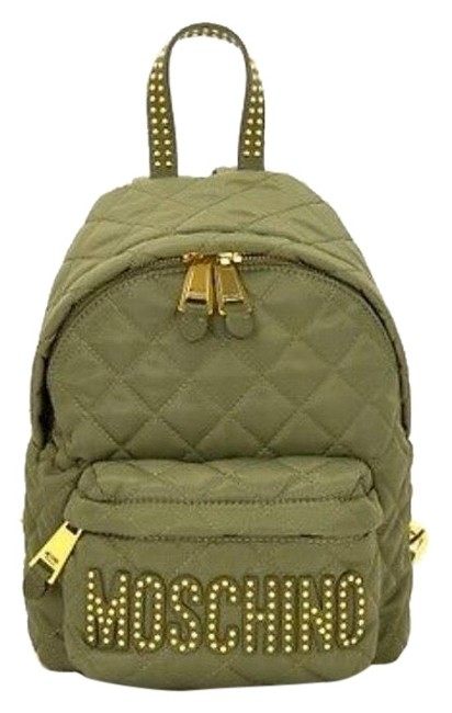 Item - Ss17 Couture Jeremy Scott Studded Quilted Olive Military Green Nylon Backpack