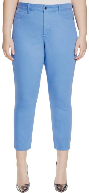 Item - Blue Light Wash 14w Ira Stretch Slimming Fit Relaxed Ankle Capri/Cropped Jeans Size 36 (14, L)