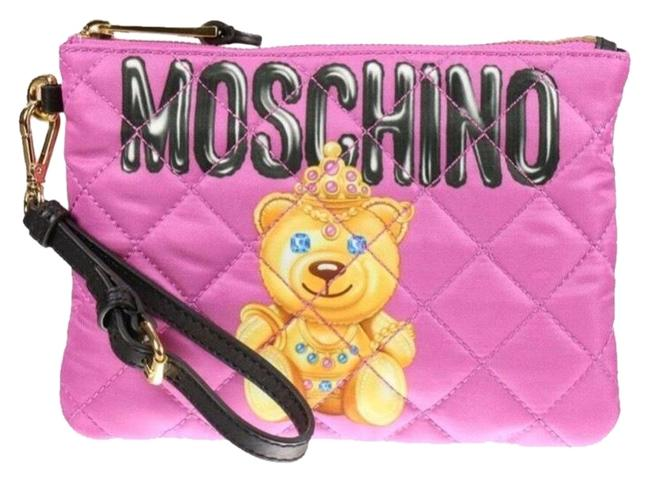 Item - Ss17 Couture Jeremy Scott Teddy Bear Princess Quilted Pink Mini Multicolor Cloth Clutch