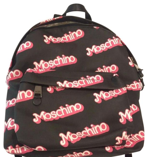 Moschino Ss15 Couture Jeremy Scott Black Barbie Logo Cute and Rare Pink Pvc Backpack Moschino Ss15 Couture Jeremy Scott Black Barbie Logo Cute and Rare Pink Pvc Backpack Image 1