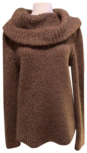 Item - Tunic Cocoa Brown and Gold Sweater