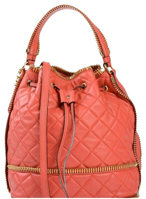 Item - Bucket Bag Couture Jeremy Scott All Over Zippers Red Leather Tote