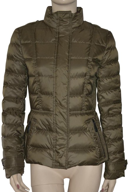 Item - Olive Womens Quilted Puffer Down Jacket Small Coat Size 4 (S)