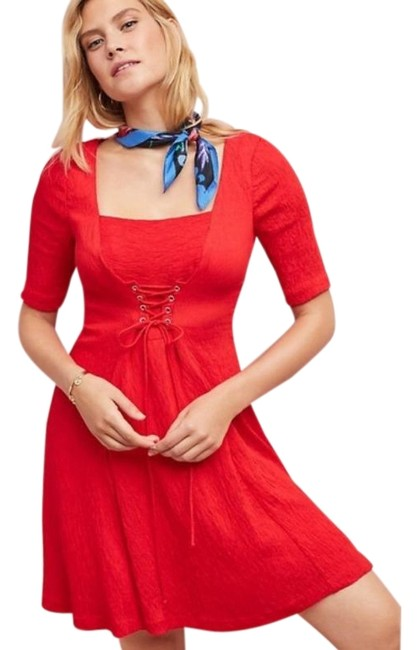 Item - Red Maeve Juliet Corseted Short Casual Dress Size 8 (M)