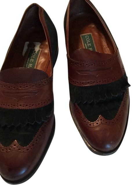 Item - Dark Brown Green Alesia Flats Size US 6.5 Regular (M, B)