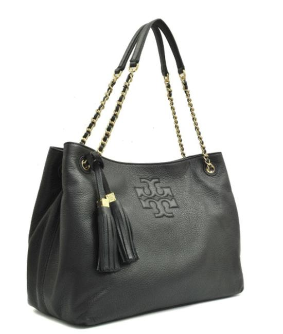 Item - Thea Chain Shoulder Slouchy Black Lambskin Leather Tote