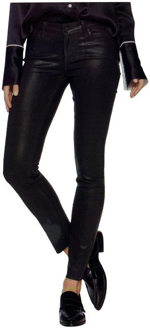 Item - Black Coated Verdugo Ankle Skinny Jeans Size 31 (6, M)