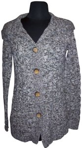 Debbie Morgan Buttons Pockets Sweater Knit Cardigan