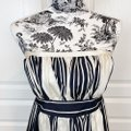 Corey Lynn Calter Black and Cream Anthropologie Bared Branches Short Cocktail Dress Size 12 (L) Corey Lynn Calter Black and Cream Anthropologie Bared Branches Short Cocktail Dress Size 12 (L) Image 4