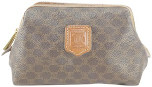 Céline Cosmetic Make Up Toiletry Brown Clutch