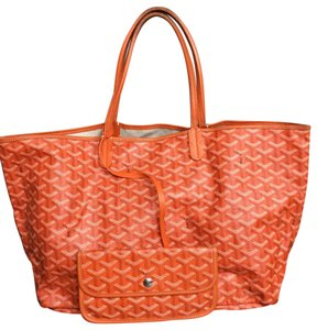 Goyard Saint Louis Pm Coated Tote in Orange
