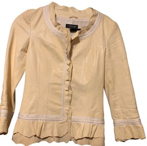 STRENESSE Yellow Leather Jacket