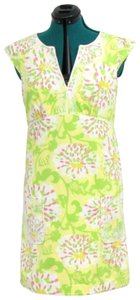 Lilly Pulitzer short dress Yellow Shift Floral Sun Embroidered on Tradesy