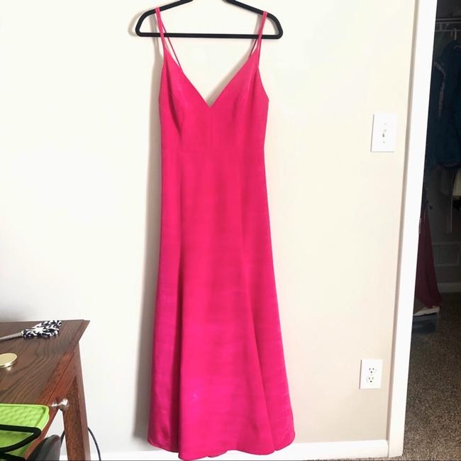 LulaKate Pink Henley Trumpet Style Formal Bridesmaid/Mob Dress Size 4 (S) LulaKate Pink Henley Trumpet Style Formal Bridesmaid/Mob Dress Size 4 (S) Image 1