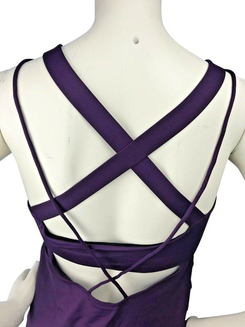 Item - Deep Purple Medium Impact Strappy Shelf Activewear Top Size 2 (XS)