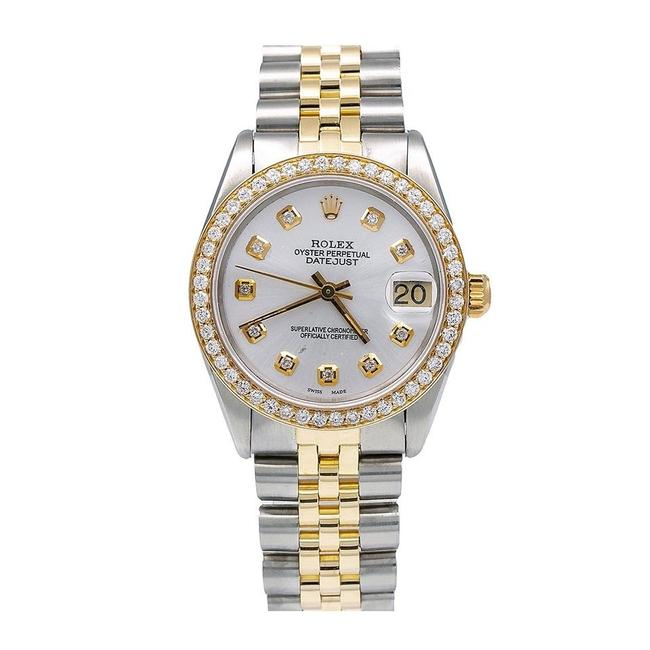 Rolex Grey Datejust 6827 31mm White Diamond Dial with 1.05 Ct Diamonds Watch Rolex Grey Datejust 6827 31mm White Diamond Dial with 1.05 Ct Diamonds Watch Image 1