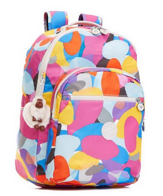 Item - Seoul Breezy Pink with Laptop Protection Multi Color Nylon Backpack