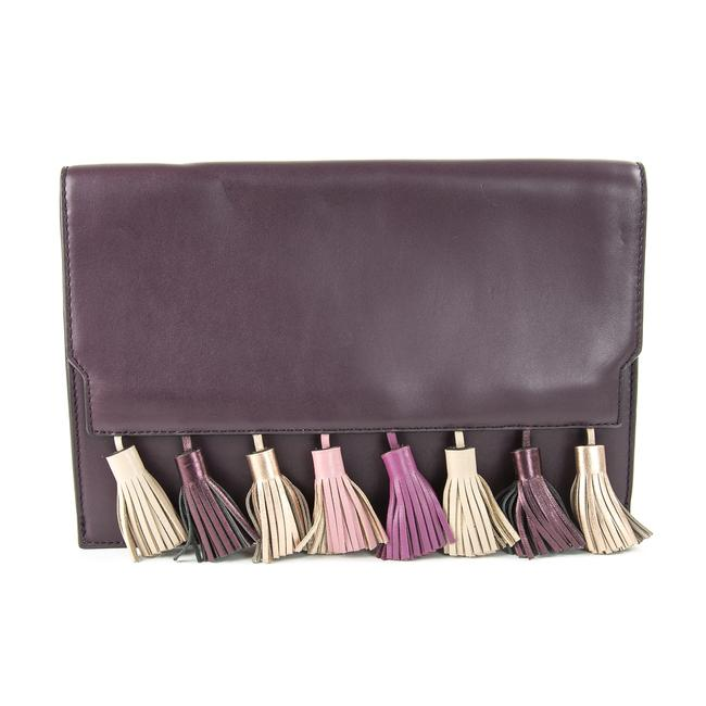 Item - Sofia Dark Cherry Multi Genuine Leather Clutch