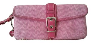 Coach Buckles Wristlet in pink