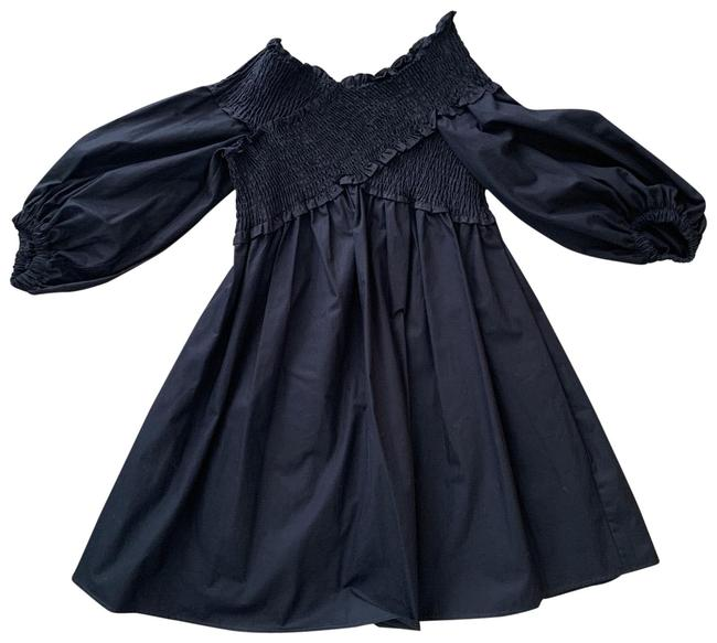 Item - Black Off The Shoulder Short Casual Dress Size 8 (M)