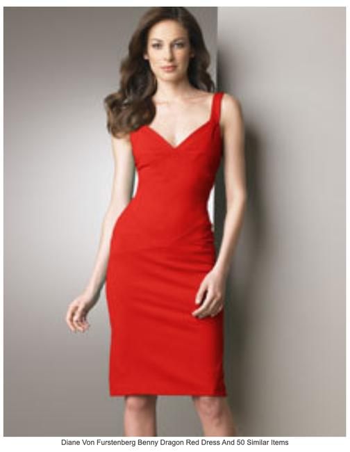 Item - Red Benny In Dragon Mid-length Night Out Dress Size 2 (XS)