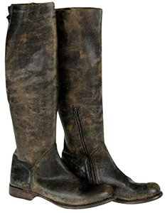 Bed|Stü Bed/Stu Distressed Leather Knee High Brown Boots