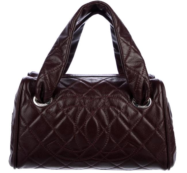 Item - Timeless Tote Classic Bowler Quilted Small Burgundy Caviar Satchel