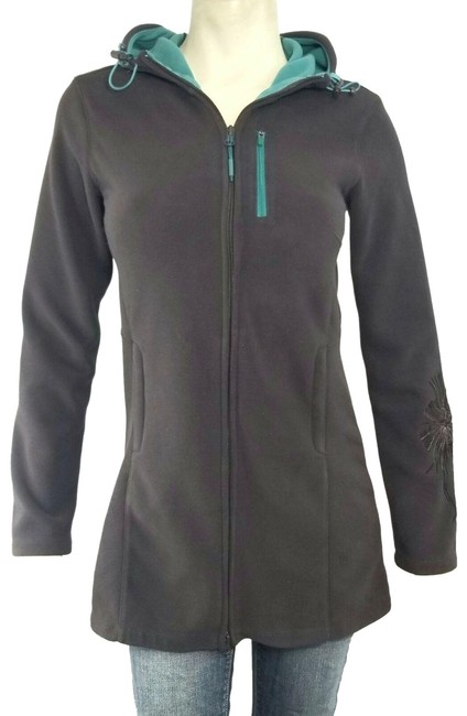 Item - Brown Swara Fleece Zip-up Hooded Activewear Outerwear Size 2 (XS)